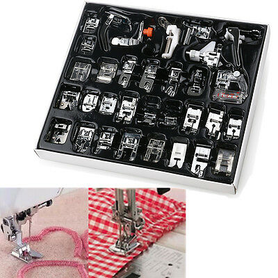 32 Pack Sewing Machine Presser Foot Feet For Brother Elna Toyata Singer Domestic
