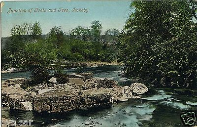 ROKEBY. JUNCTION OF GRETA AND TEES.  Co.  DURHAM. OLD POSTCARD.