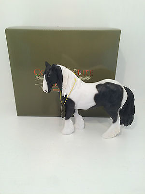 Country Life Black Cob Horse Figurine Ornament *BRAND NEW BOXED*