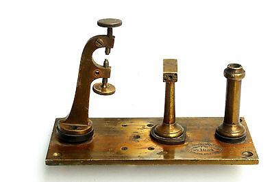 Antique Brass Telegraph Machine Key Morse Coder Key Romantian Telegrafelor 1084
