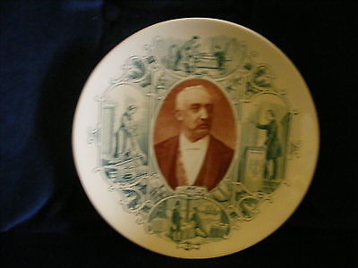 Sarreguemines French President Felix Faure 1890s Plate