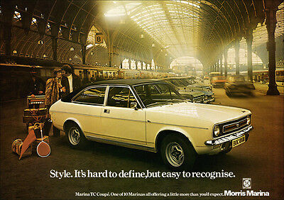 Morris Marina Tc Coupe Retro A3 Poster Print From Classic 70's Advert