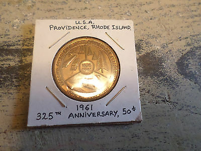 Vintage 1636-1961 Providence R.I. 325th Anniversary Celebration 50c Coin Token