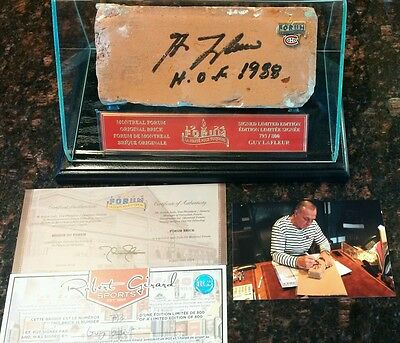 Montreal Forum 1968 Brick. Signed By Guy Lafleur. with Case and Certificates
