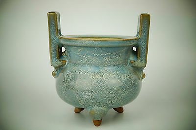 A Fine Collection of Chinese 11thC Jun Ware- Lu Jun Porcelain Incense Burners