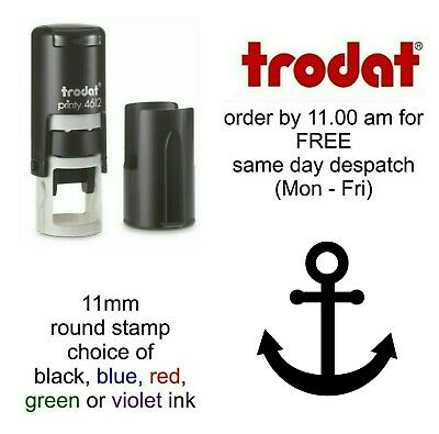 Anchor Loyalty Card Rubber Stamp Self Inking cafe bar shop restaurant school