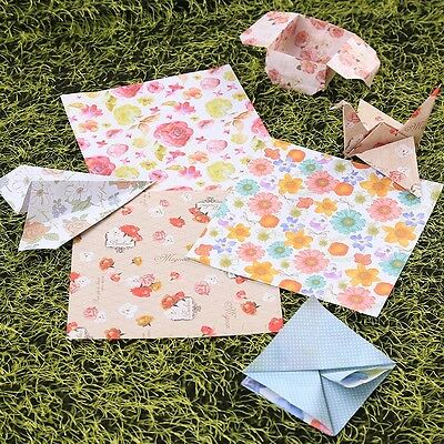 60Pcs Origami Folding Japanese Lucky Wish Paper Double Sided Chiyogami