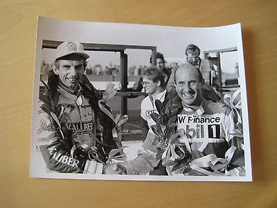 Altes Pressefoto 15x20cm - Andy Rouse Ford + Frank Sytner BMW Foto Capiton 1988