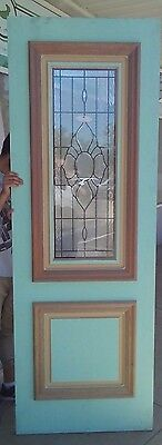 DURACOAT Solid entry FRONT door 2340 X 820 x 40 TIMBER STAINED GLASS D7