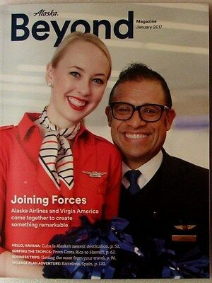 Alaska Airlines ~Beyond Magazine~January 2017~Joining Forces with Virgin America