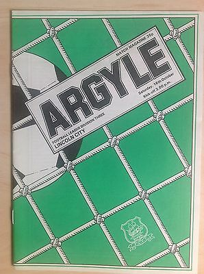 Plymouth v Lincoln 1982-83 programme