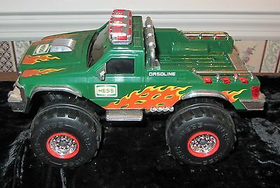 Hess Off Road Monster Truck W One Motorcycle Lights Up