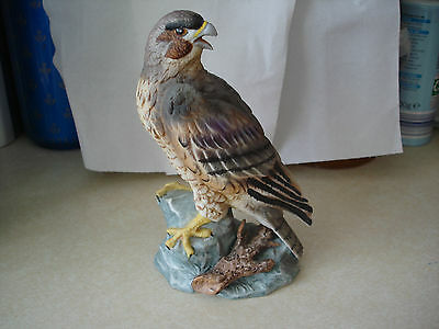 Peregrine Falcon Hand Painted Bird Sculpture Ornament by Maruri