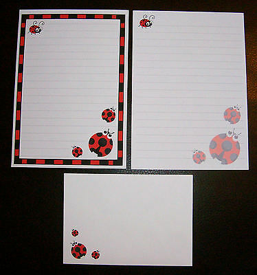 Cute Kawaii Ladybirds Ladybugs Letter Writing Paper Stationery Set