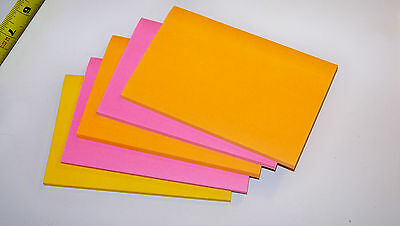 """Post-It Sticky Notes 4 x 6"""" Color Memo Pad (Pink Orange Yellow)"""