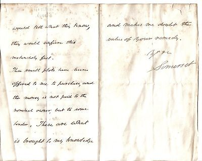 Duke of Somerset - 1884 letter: Devon small land owners unable to cultivate