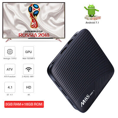 M8S Pro L Atv S-912 Android Internet Tv Smart Box 3Gb / 16Gb Iptv Dual Wifi Bt