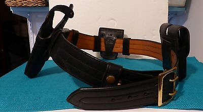 Leather Duty Belt B103/Holster/Handcuff Case/Magazine Pouch/Snap Keepers