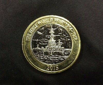 RARE..2015 Great Britain First World War Royal Navy  £2 Two Pound Coin.