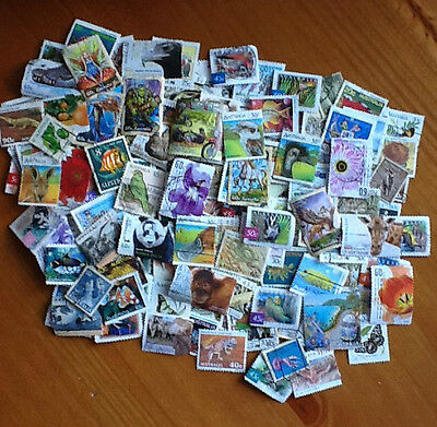 Australia Stamps 12 Grams Stamp Collection Varied Used Off Paper Kiloware