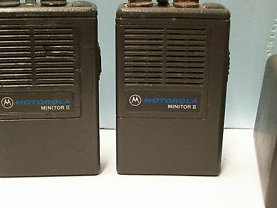 Motorola Minitor Pagers, Chargers And A Grab Box Of Parts