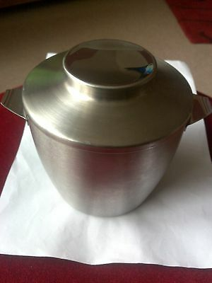Ice Bucket Brushed Stainless Steel Made In England