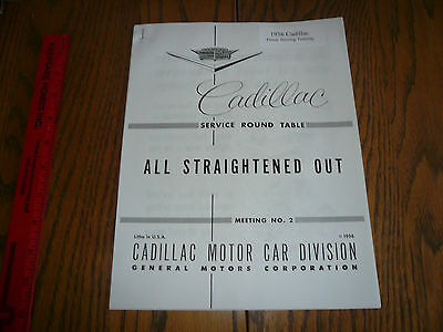 1956 Cadillac Power Steering Training - Service Round Table Meeting #2