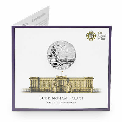 The Royal Mint Buckingham Palace 2015 UK £100 Fine Silver Coin - UK15100P