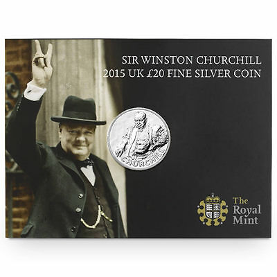 The Royal Mint Sir Winston Churchill 2015 UK £20 Fine Silver Coin - UK1520CH