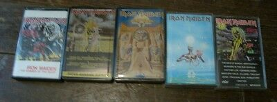 Lot of 5 IRON MAIDEN Cassettes Power Slave/Seventh Son/Killers/of the Beast