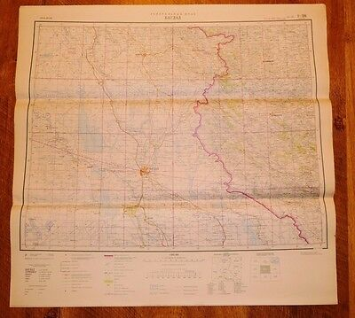 Authentic Soviet Russian Military Topographic Map CITY OF BAGHDAD, IRAQ