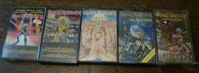 Lot of 5 IRON MAIDEN Cassettes Power Slave/Killers/Maiden Japan/Somewhere in
