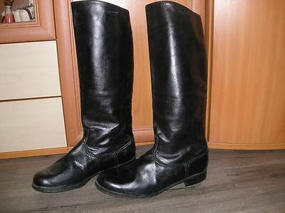 Soviet Russian Leather Riding Officer Chrome Boots USSR Military Army 44