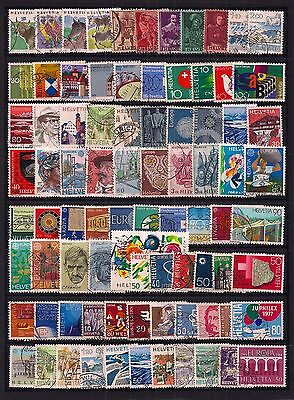 Switzerland- Selection Of 80+ Fine Used Stamps.all Different .very Clean Lot.