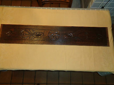 42 french antique carved architectural panel solid oak wood trim