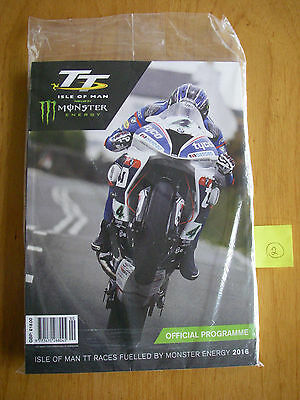2016 Isle of Man TT races Official Programme, Race Guide & postcards - sealed (2