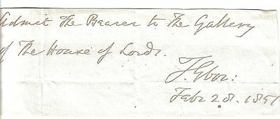 Thomas Musgrave -Bishop of Hereford-Archbishop of York -1851 House of Lords Pass