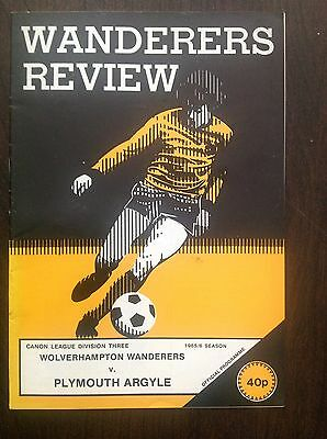 Wolves v Plymouth 1985-86 programme