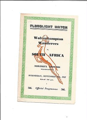WOLVES v SOUTH AFRICA (Friendly) 1953/54