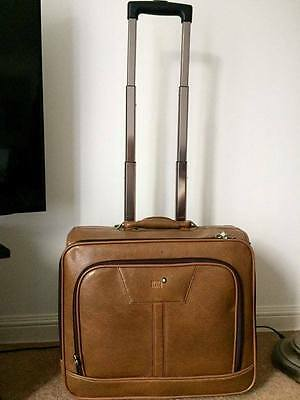 100% Genuine Mont Blanc Leather Travel  Bag Suitcase Trolley Hand Luggage