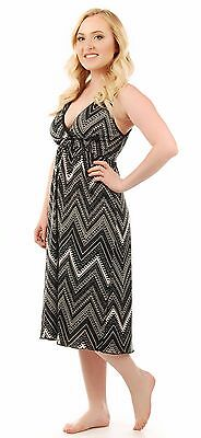 Amamante Nursingwear Sun Dress in Black and White Print Choose Size  Small - XL