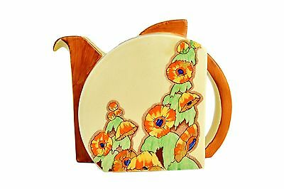 Clarice Cliff Teapot And Cover, of Stamford shape, 'Sunshine' - Circa 1937