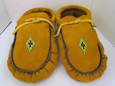 Traditional Native American Moccasins 9 Inch Classic Diamond Beadwork