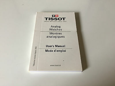 New - TISSOT Analog Watches User's Manual - Ref. 121-1N - For Collectors