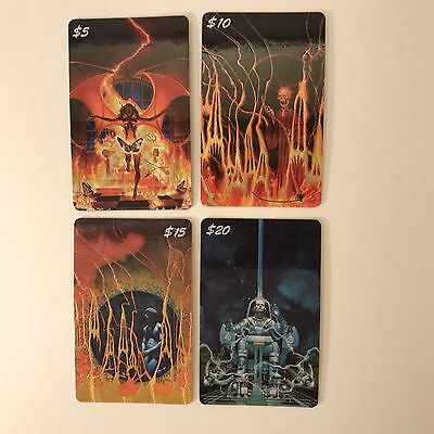 PROMO CARDS: CHAMPS MANUFACTURING Sample Phone Cards: 4 DIFFERENT Don Maitz Art