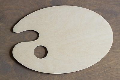 Artist Palette Wooden Oval Classic Mixing Painting Tools Hole - FREE SHIPPING