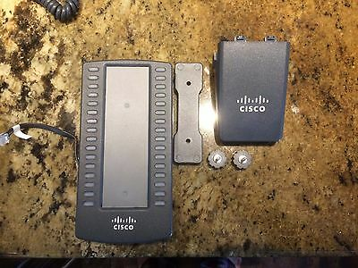 Cisco Spa500S 32-Button Attendant Console Expansion Module W/ Stand / Bracket