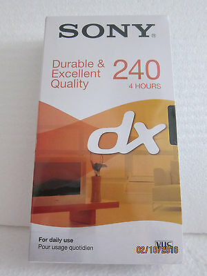 Sony DX 4HRS 240 Blank VHS Video Tape Brand New & Sealed