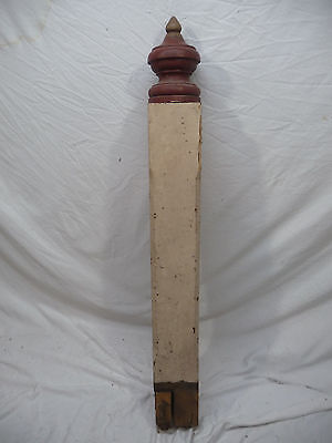Antique Victorian Acorn Top Newel Post - Circa 1890 Fir Architectural Salvage
