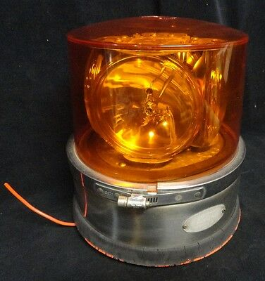 Signal-Stat * Rotating Strobe Light * Amber * Large * 77-234 * 4 Lights * Used